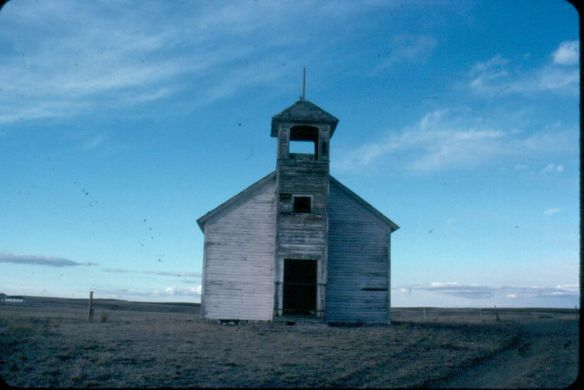 Cottonwood church, Hill County, in 1984
