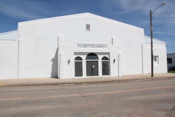 The 1930s armory in Culbertson MT
