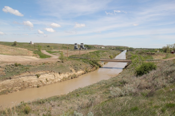 Irrigation ditch at Intake, MT