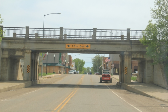 Underpass separating MT 16 from the Northern Pacific mainline at Wibaux