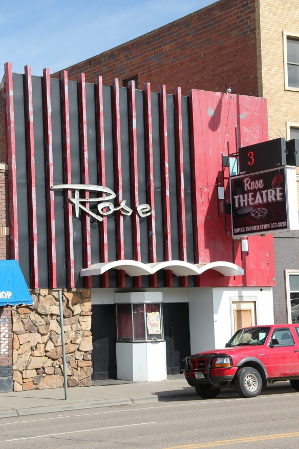 The striking 1960s metal facade of the Rose Theater was layer over an earlier brick building