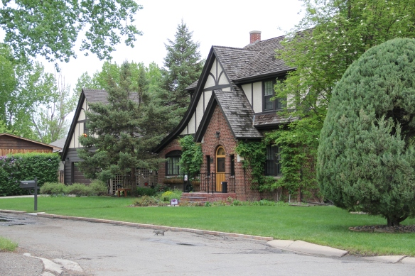 Tudor Revival style house facing Wibaux Park, Miles City.