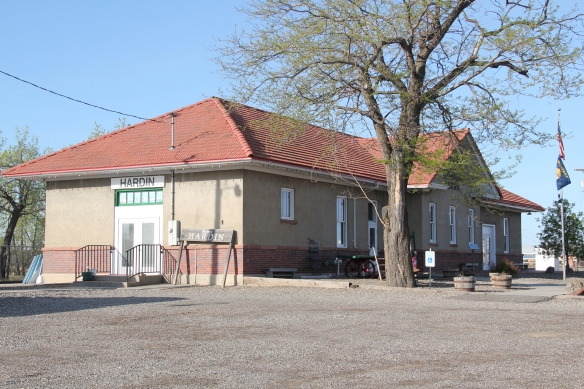 The National Register-listed Burlington Route depot  is now the chamber of commerce office.