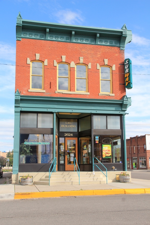 Previously neglected building south of tracks in Billings