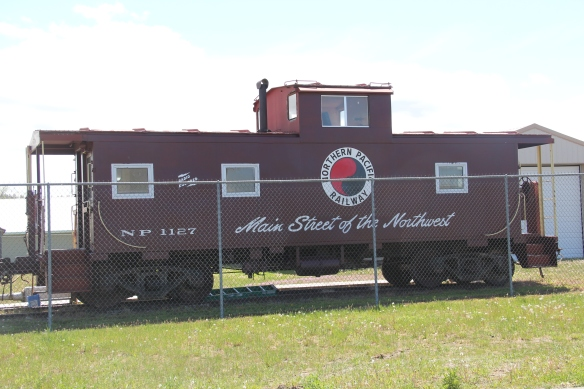 This historic NP caboose is part of the displays at the Stillwater County Museum, which sits in a new building near the schools in the north end of town.