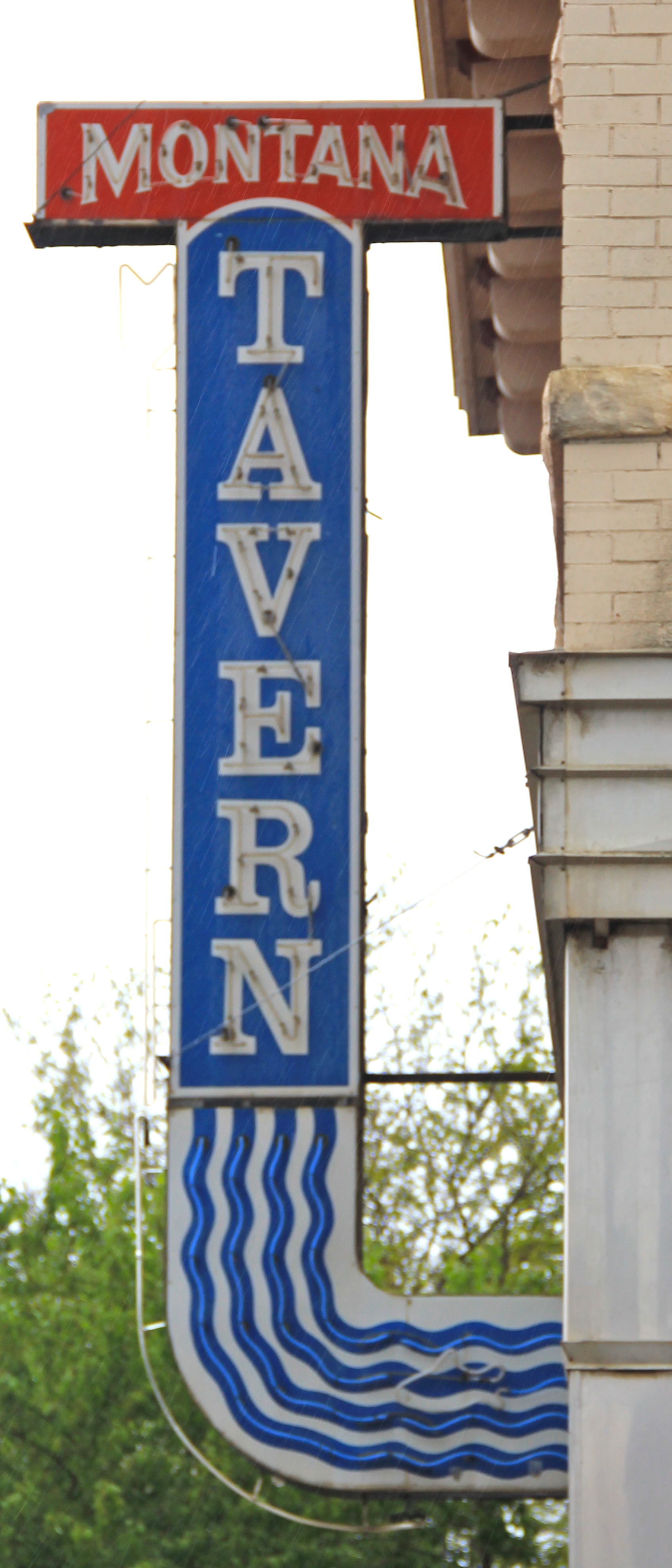 Fergus Co Lewistown Montana tavern sign downtown commerical HD 24 - Version 2