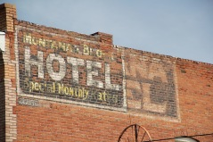 Park Co Livingston montana block hotel sign
