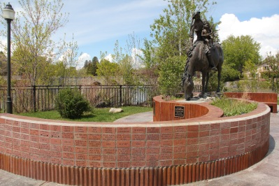 Park Co Livingston Sacajawea statue at park