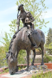 Park Co Livingston Sacajawea statue at park 2