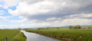 Teton Co Fairfield irrigation ditch N