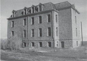 Abandoned boys' dormitory, Holy Family Mission, 1985