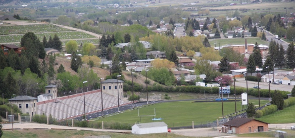 Mitchell Stadium, 1938-9 from Mt Carmel