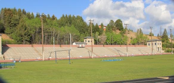Mitchell Stadium, through fence