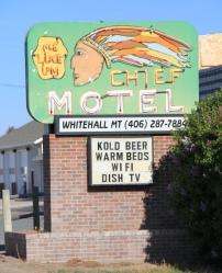 Chief Motel, Whitehall, roadside