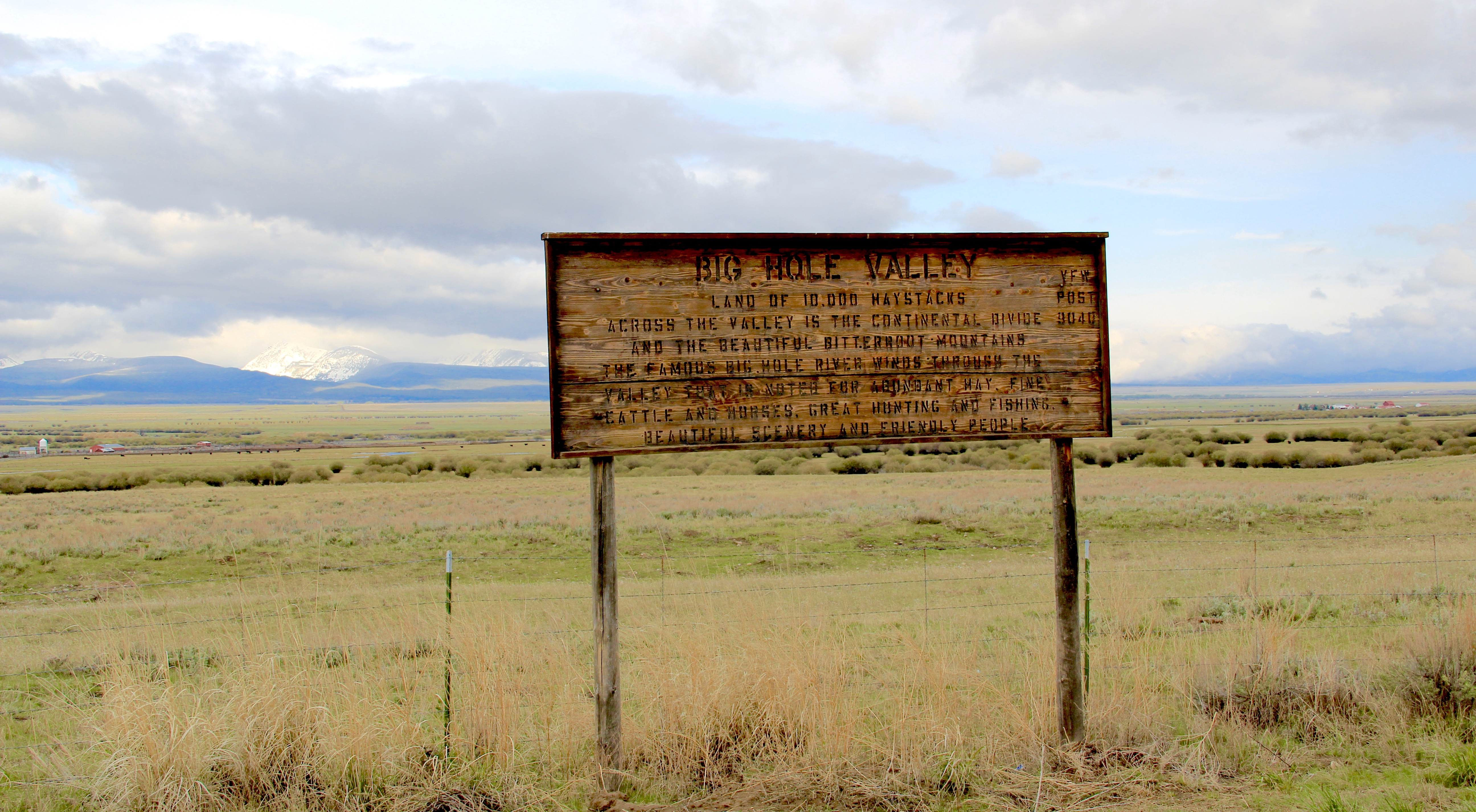 Big Hole Valley local sign MT 278