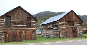 Log barns at Dewey, Mt 43