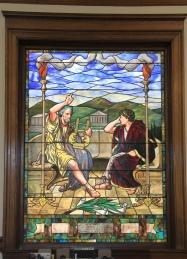 Kohrs Library window, Deer Lodge