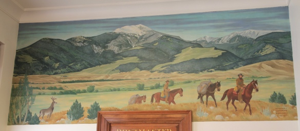 New Deal mural, Deer Lodge P.O. 1938