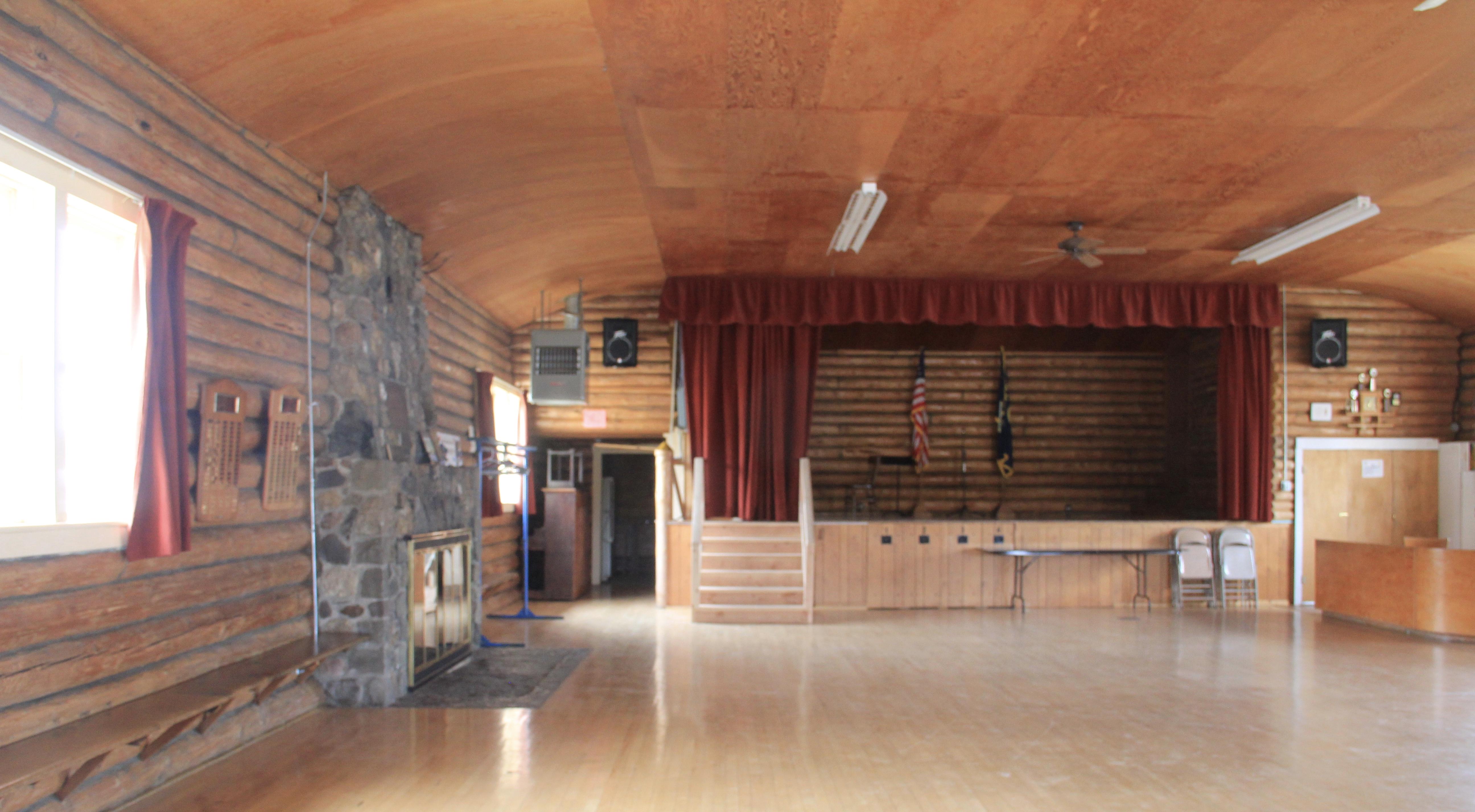 Avon Community Hall 1941 New Deal interior