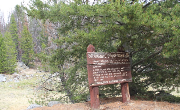 Granite Co, Granite USFS sign