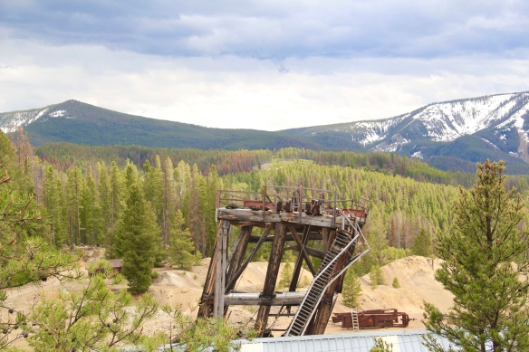 Granite Co, tilting headframe, Granite