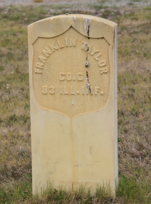 Franklin Taylor, CW soldier, Valley Cemetery, Mullan Road, Granite Co