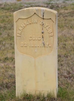Franklin Taylor, CW soldier, Valley Cemetery, Mullan Road, Granite Co