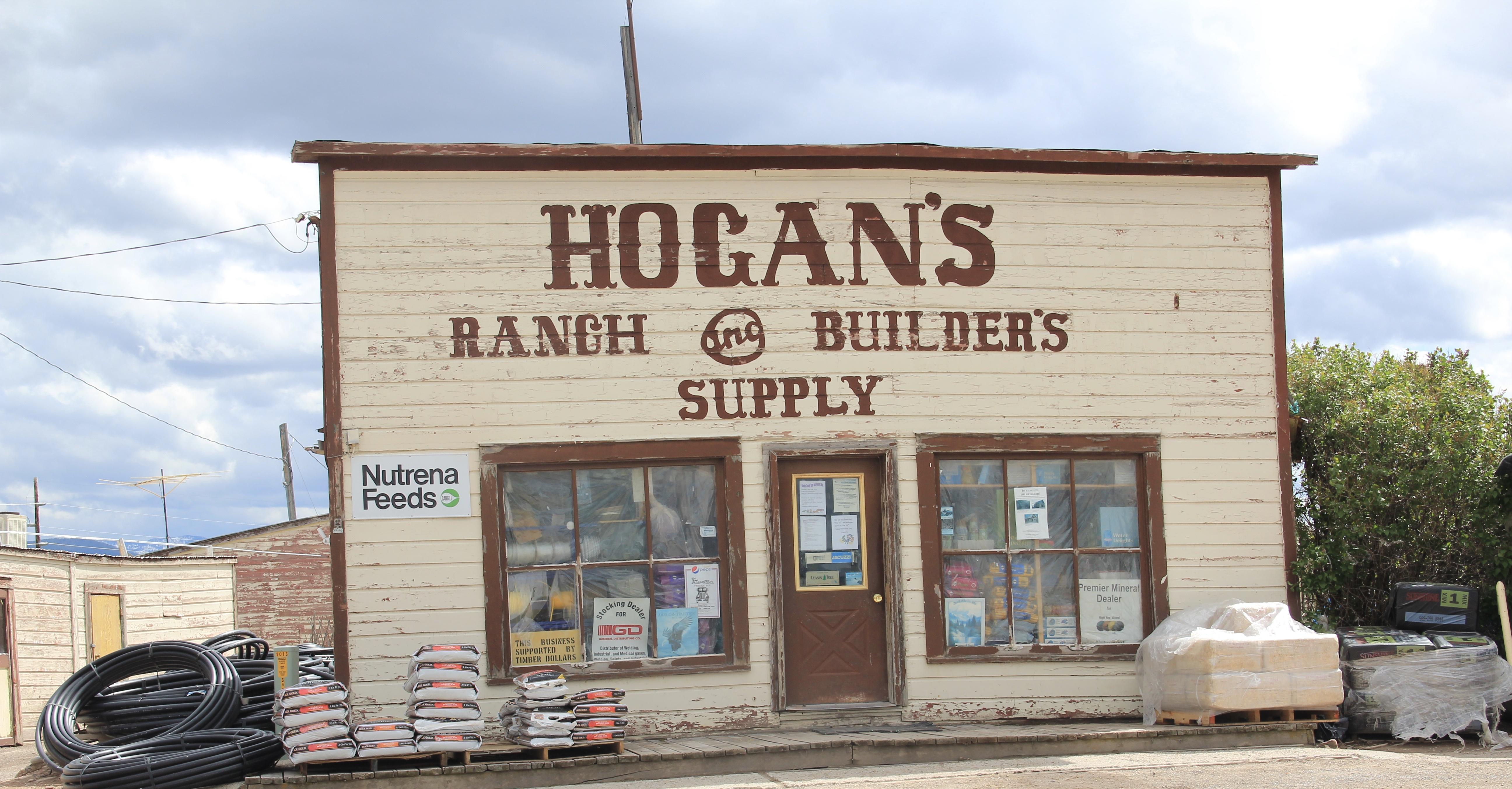 Hogan's store, MT 512, Hall