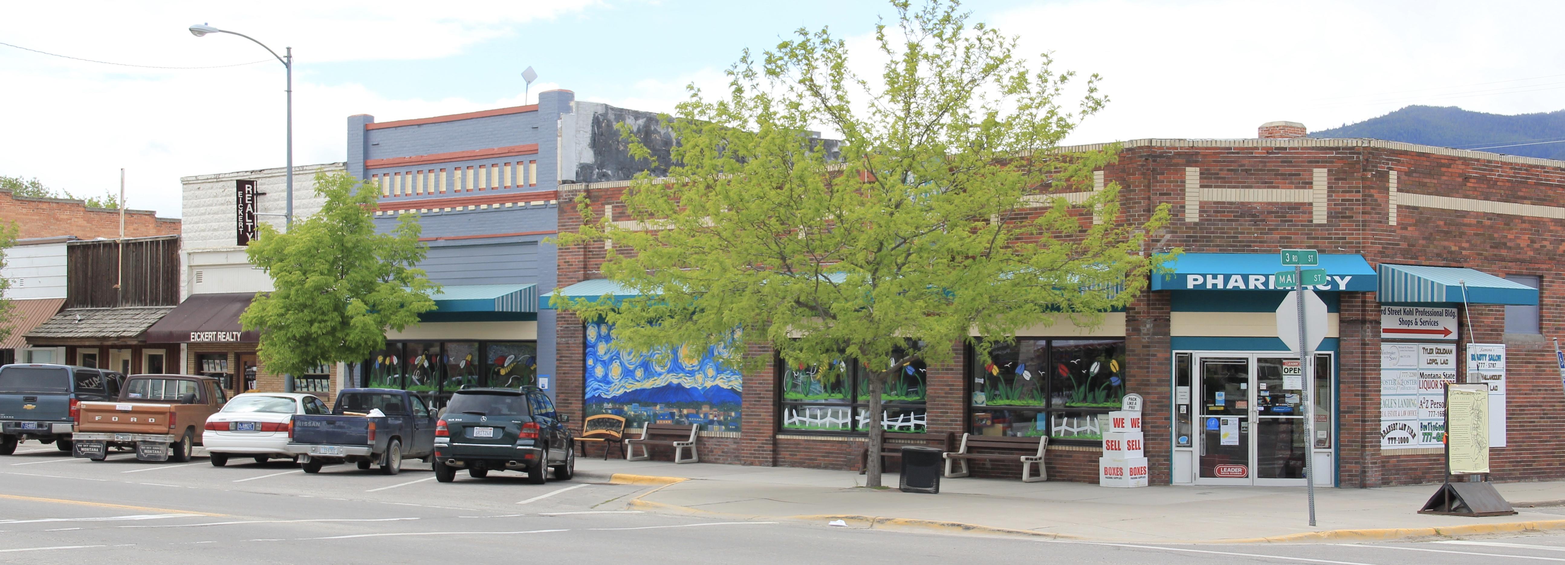 Stevensville Main St, 300 block odd