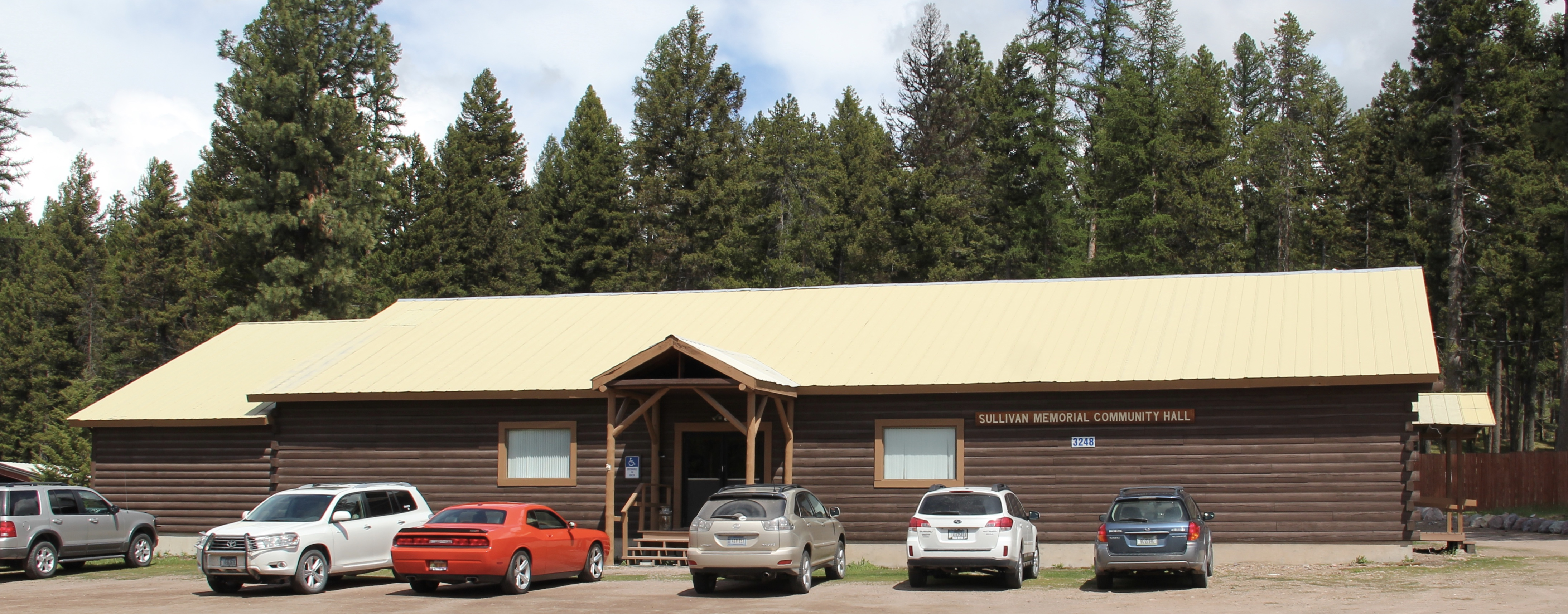 Missoula Co Hwy 35 Seeley Lake community hall