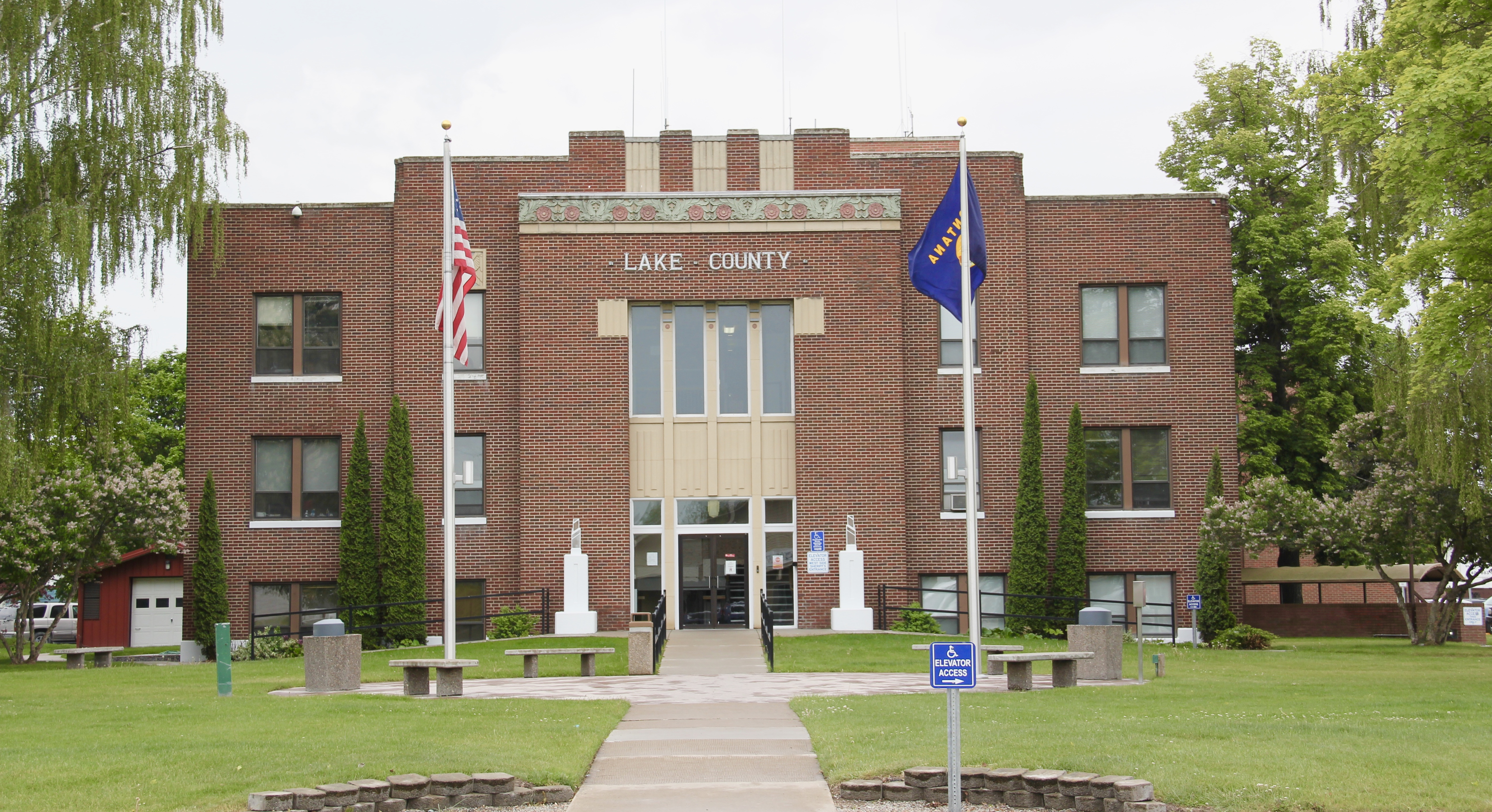 Lake Co Polson courthouse 1935 New deal 1