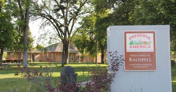 Flathead Co Kalispell Preserve America sign