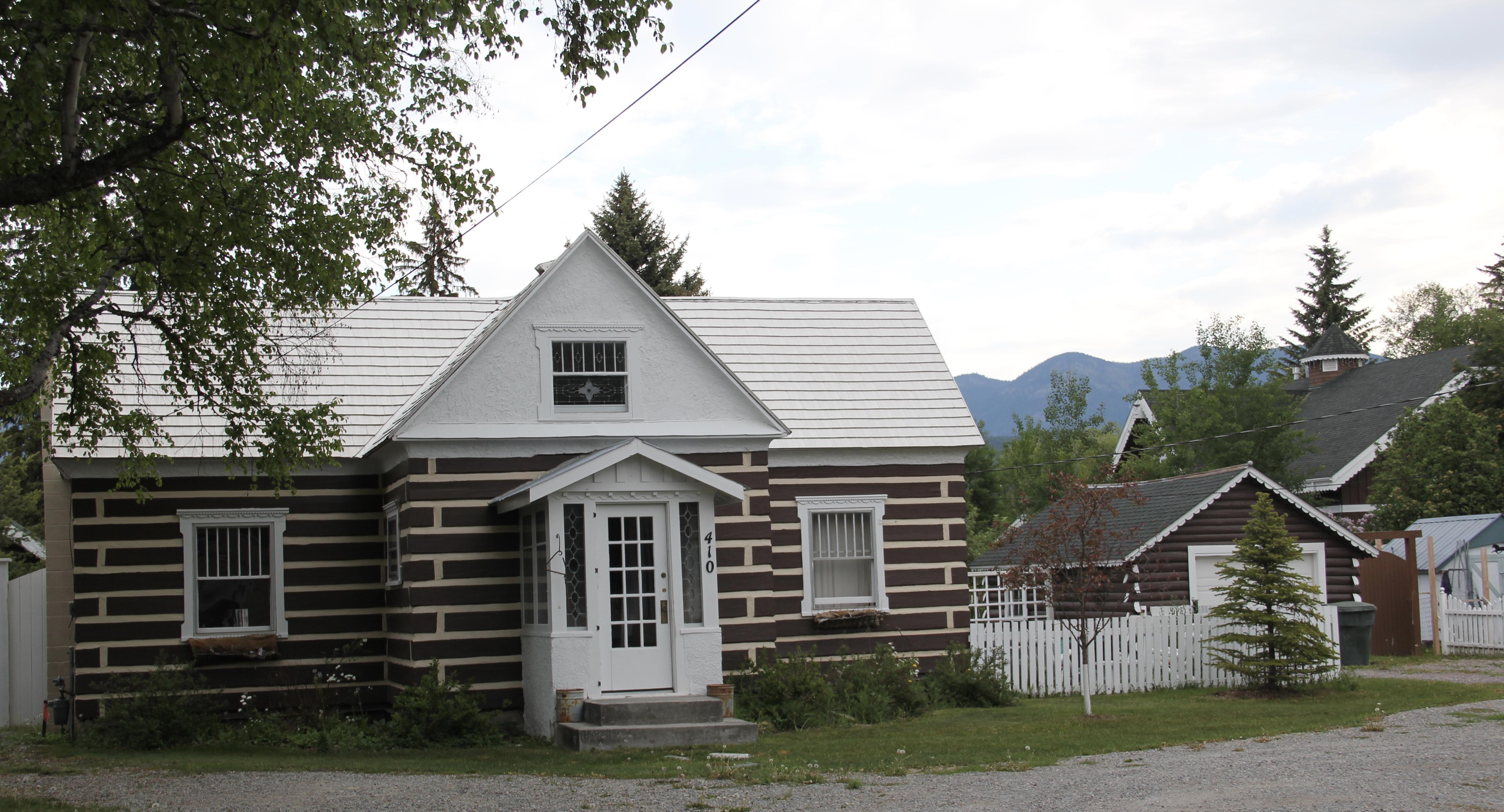 Flathead Co Whitefish railroad tie house