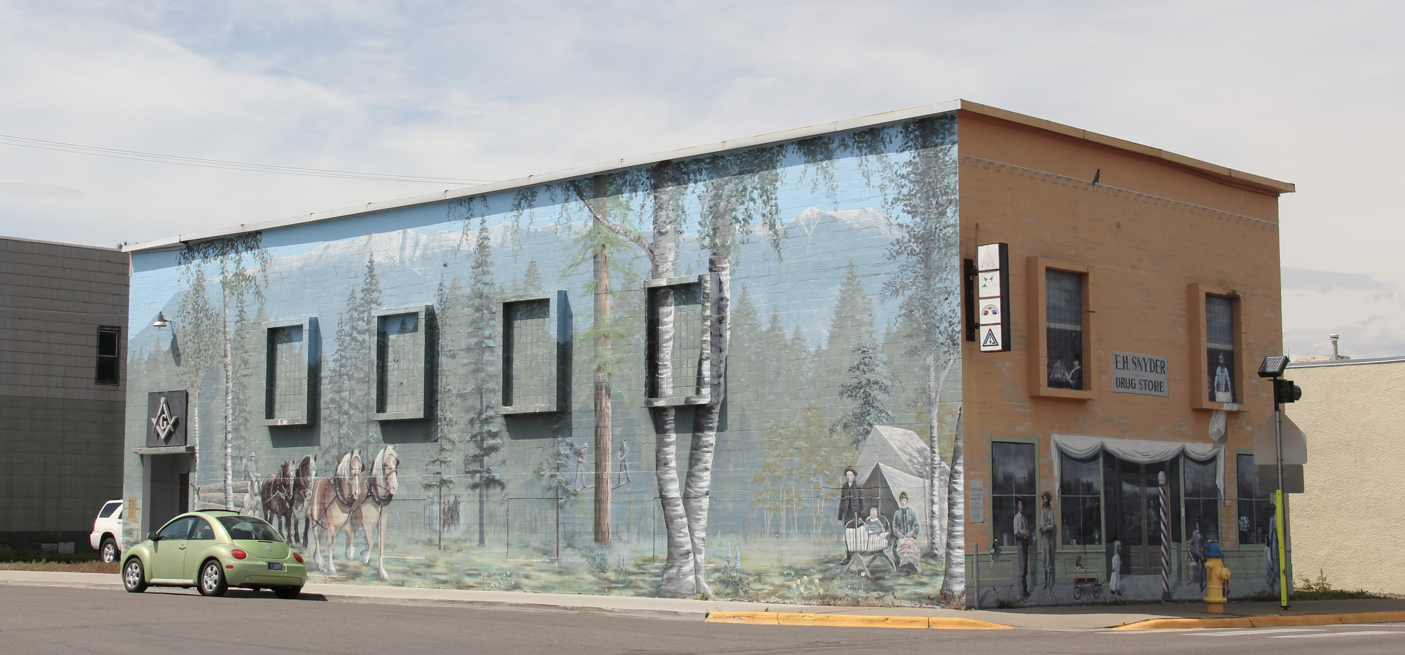 Flathead Co Columbia Falls mural