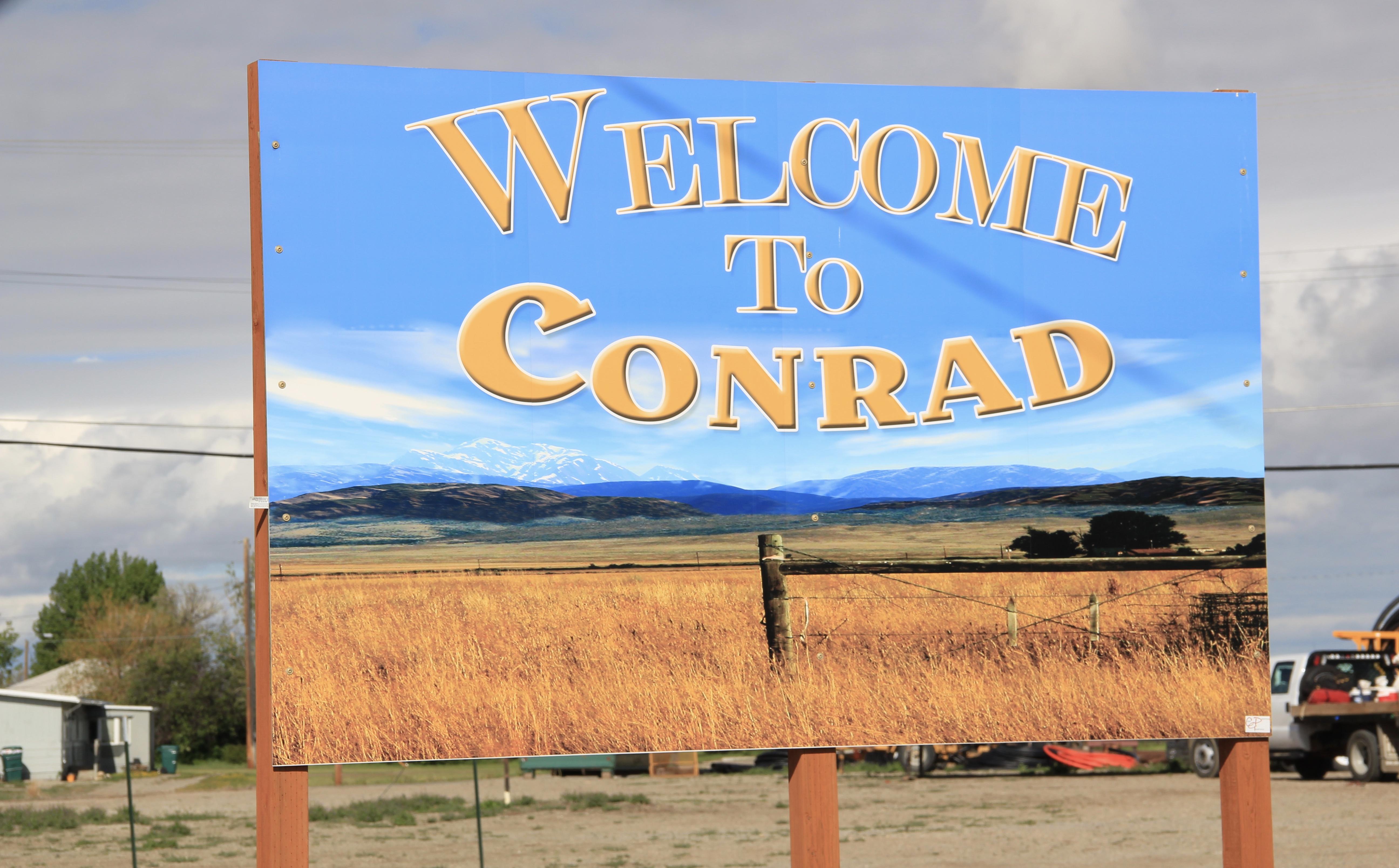 Pondera Co Conrad sign