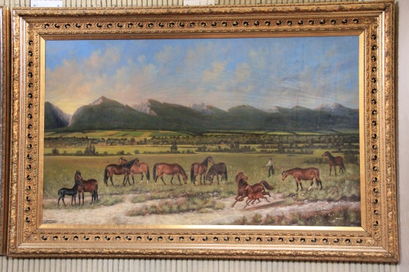 Bitterroot Stock Farm painting at Ravalli Co Courthouse 1