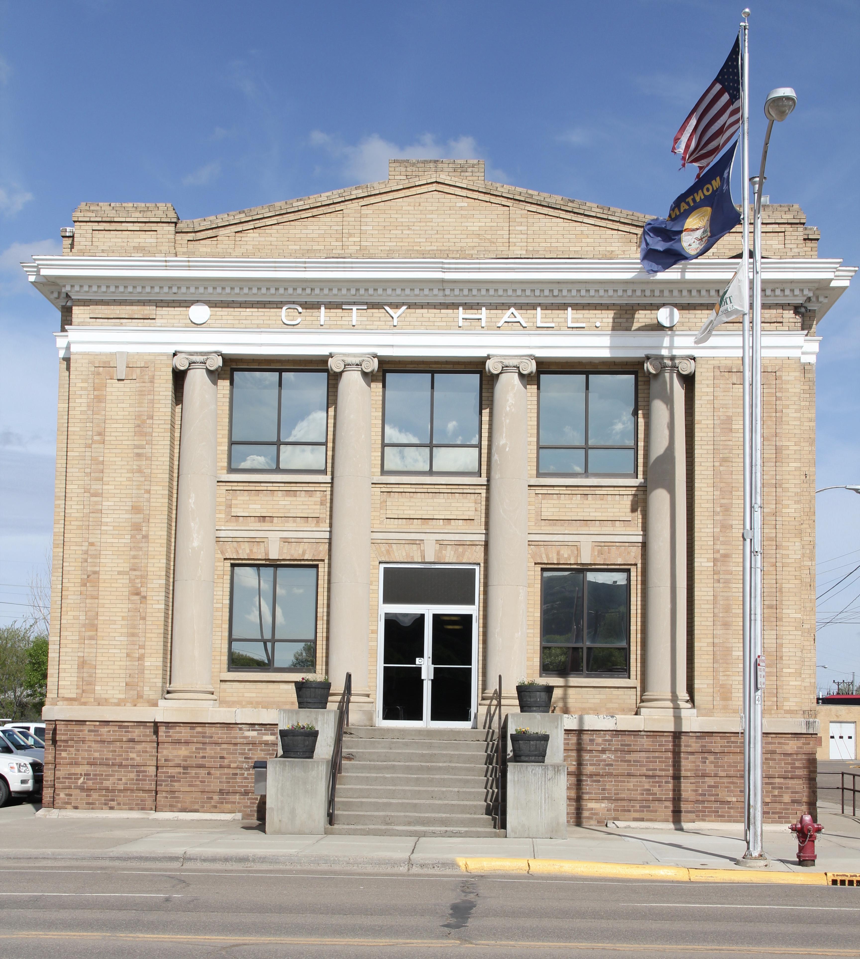 Dawson Co Glendive Merrill Ave NR district city hall
