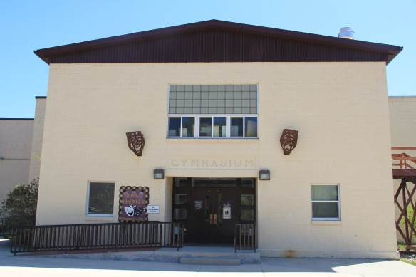 Gym facade, Jefferson County high school, Boulder