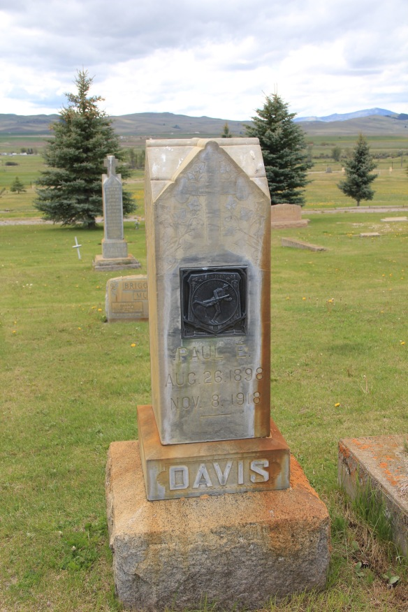 Davis, WW1, Valley Cemetery, Mullan Road, Granite Co