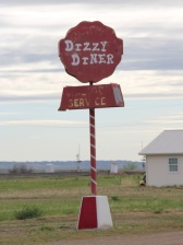 Prairie Co Terry Dizzy Diner sign roadisde