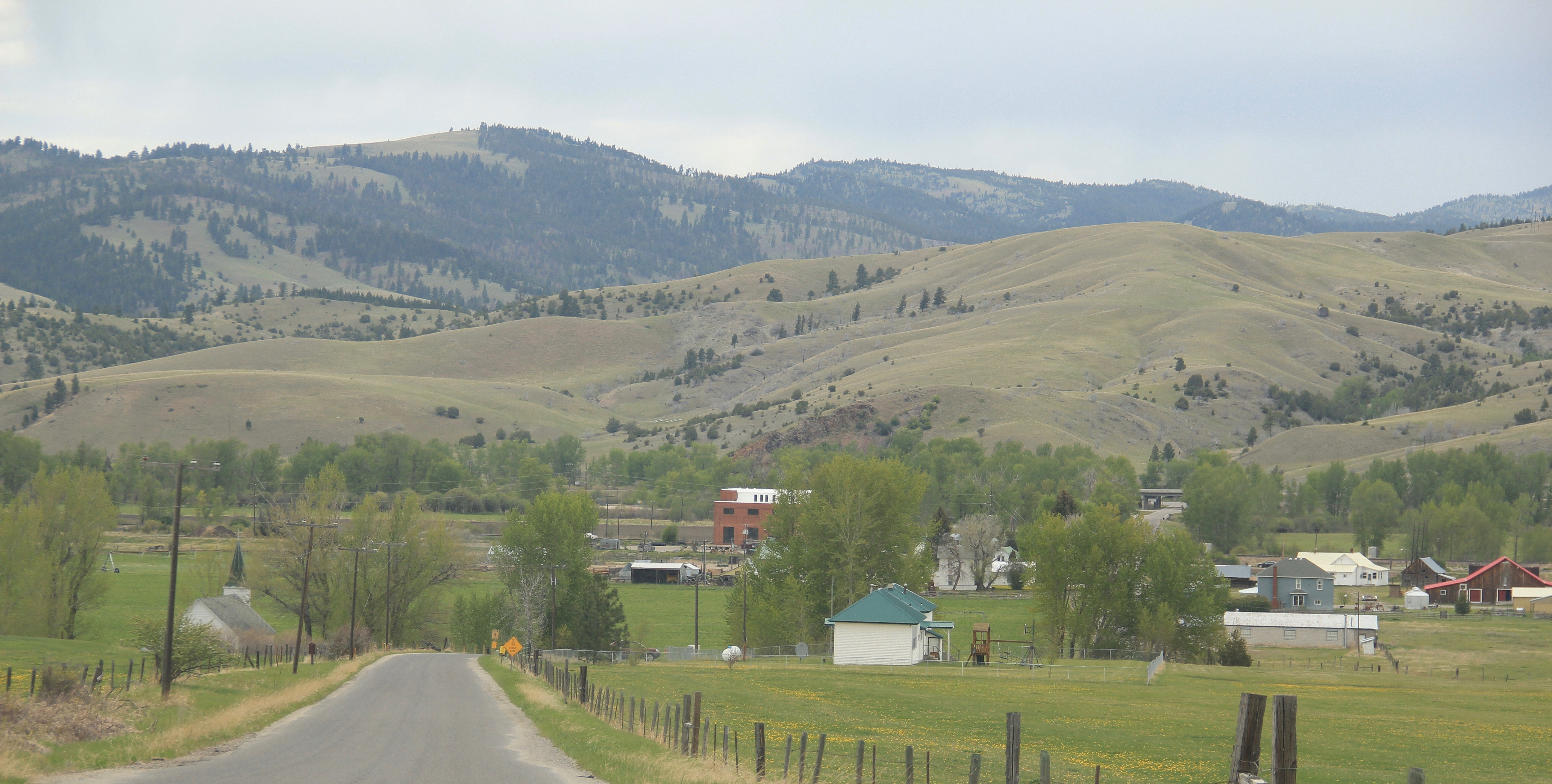Gold Creek overview from school