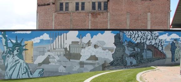 Butte mural