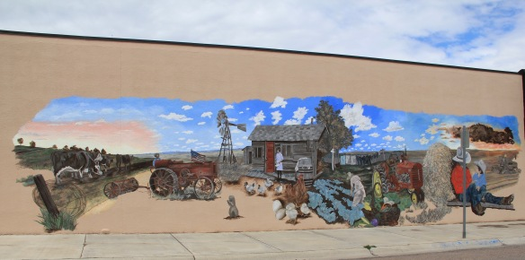 Glacier Co Cut Bank mural homesteaders