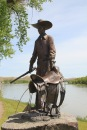 Chouteau Co Ft Benton Front St 42 cowboy sculpture
