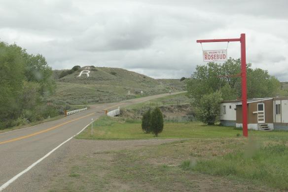 Rosebud town signs, roadside, Rosebud Co