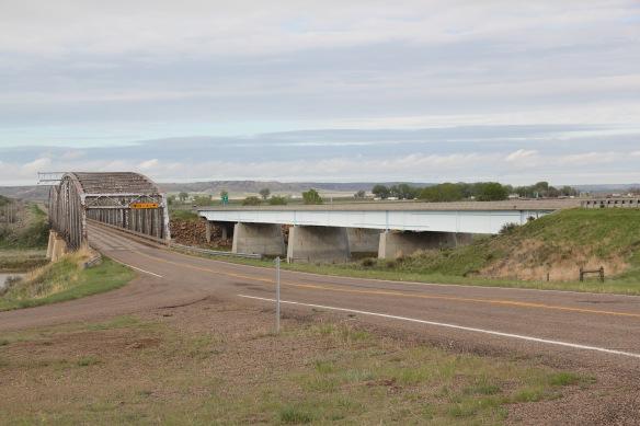 Prairie Co Fallon YS bridge NR and I-94 bridge roadside