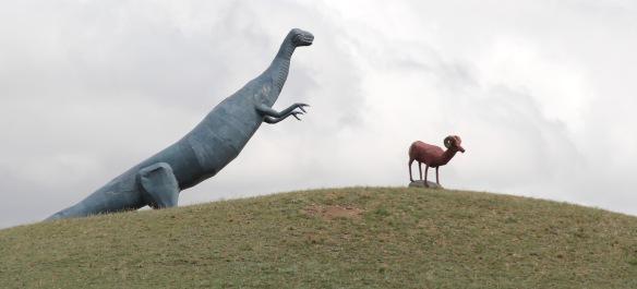 Valley Co Samuelson statues US 2 w of Glasgow 4 roadside - Version 2