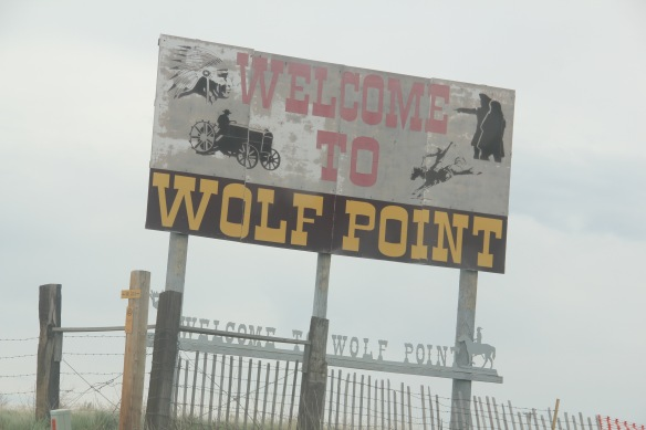 Roosevelt Co Wolf Point sign L&C