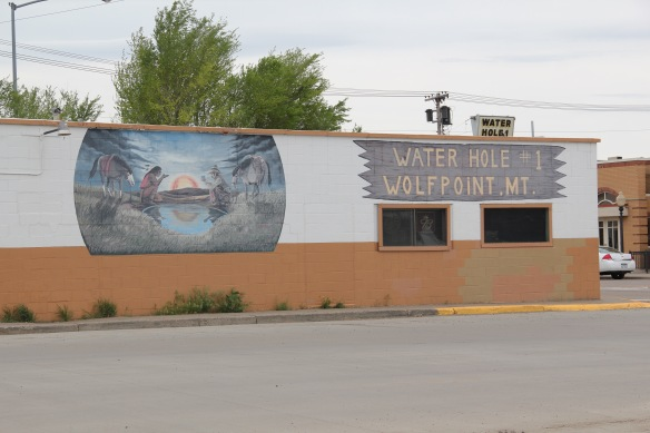 Roosevelt Co Wolf Point 13 Water Hole Bar mural
