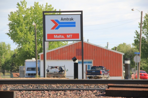 Phillips Co Malta GN depot sign